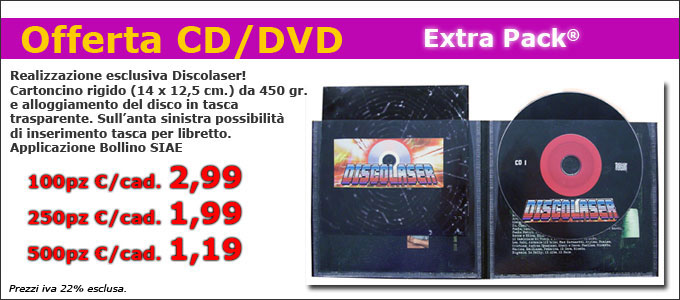 Extra Pack | Offerta Stampa CD /DVD Discolaser