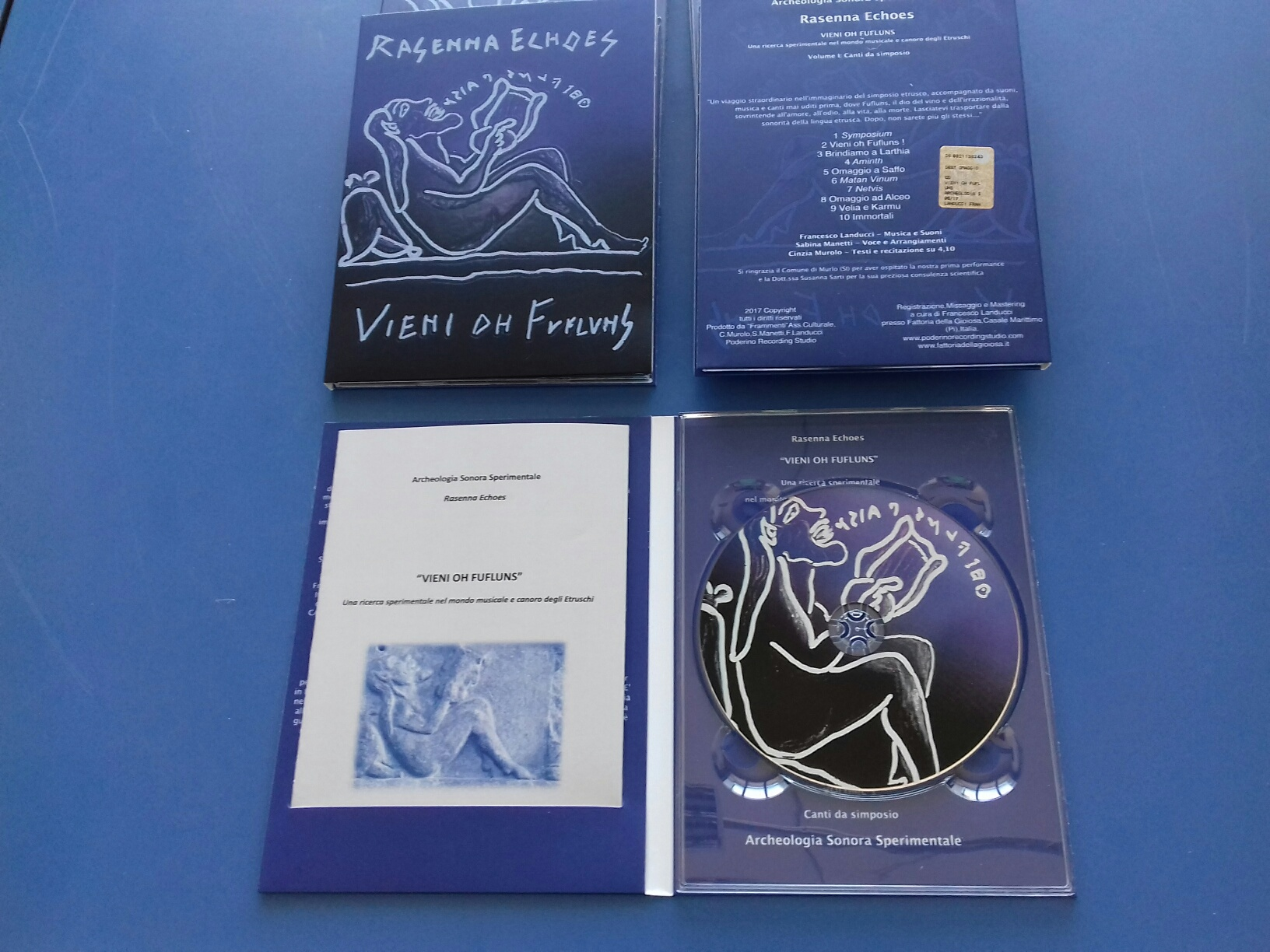 "CD ""Rasenna Echoes"" in dvd pack 2 ante con booklet"