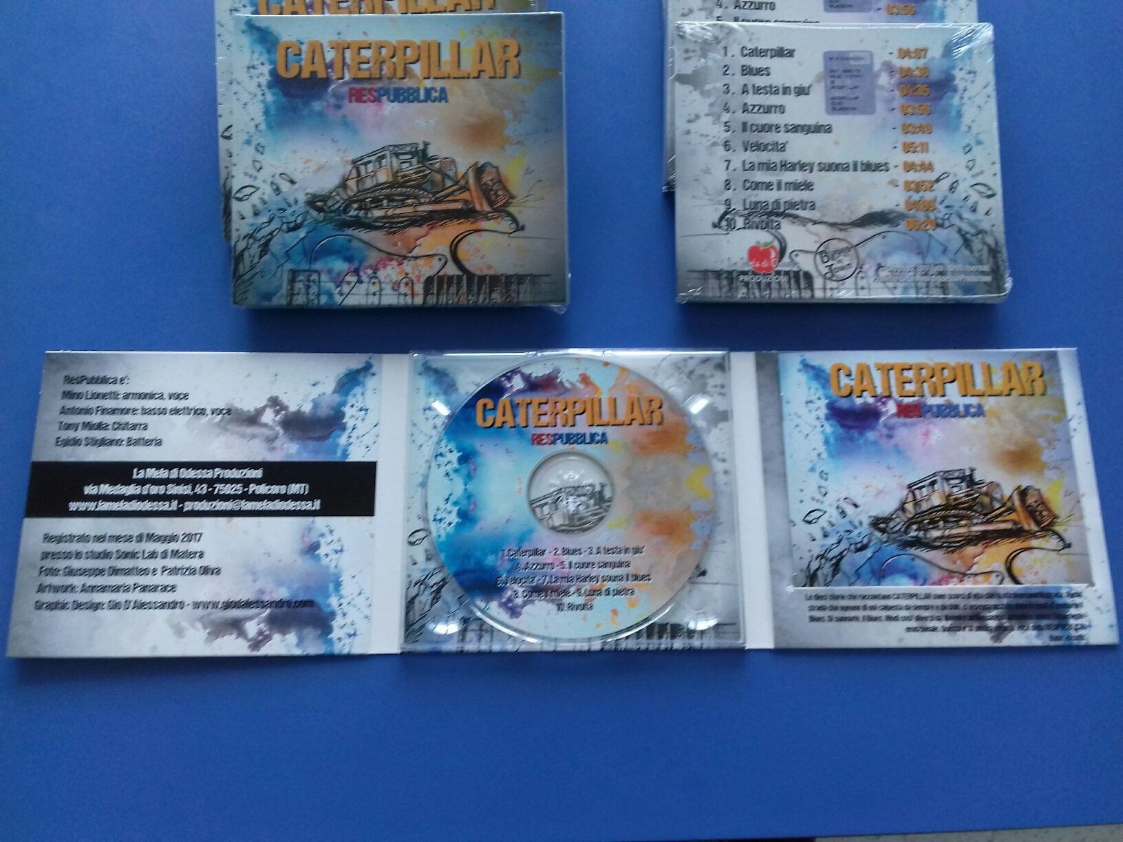 "Duplicazione CD audio ""Caterpillar – ResPubblica"" in Digipack 3 ante"