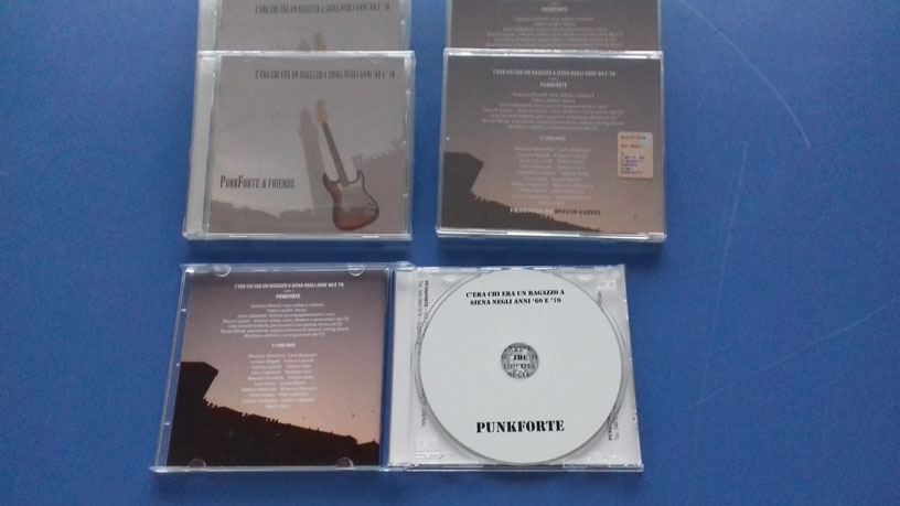 Stampa CD audio Punkforte in jewel case trasparente