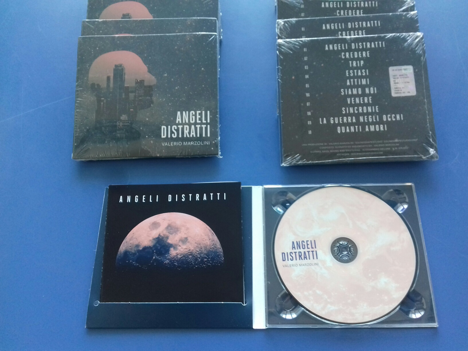 "Stampa CD ""Angeli distratti"" di Valerio Marzolini in digipack 2 ante"