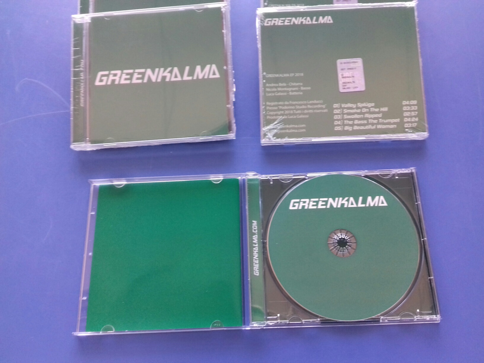 Replica CD GreenKalma in custodia Jewel Case