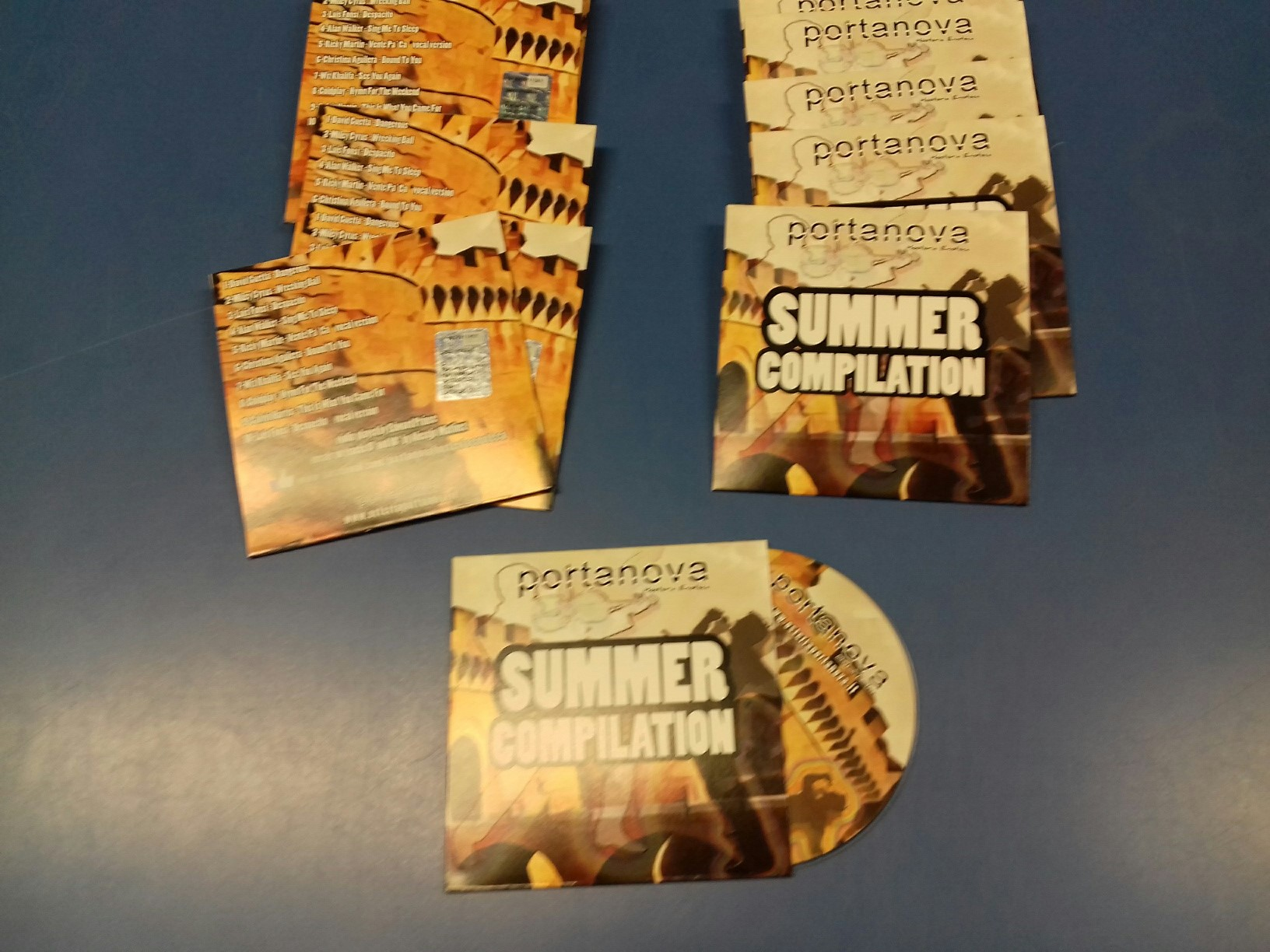 "Duplicazione CD in Bustina di Cartoncino ""Portanova Summer Compilation"""