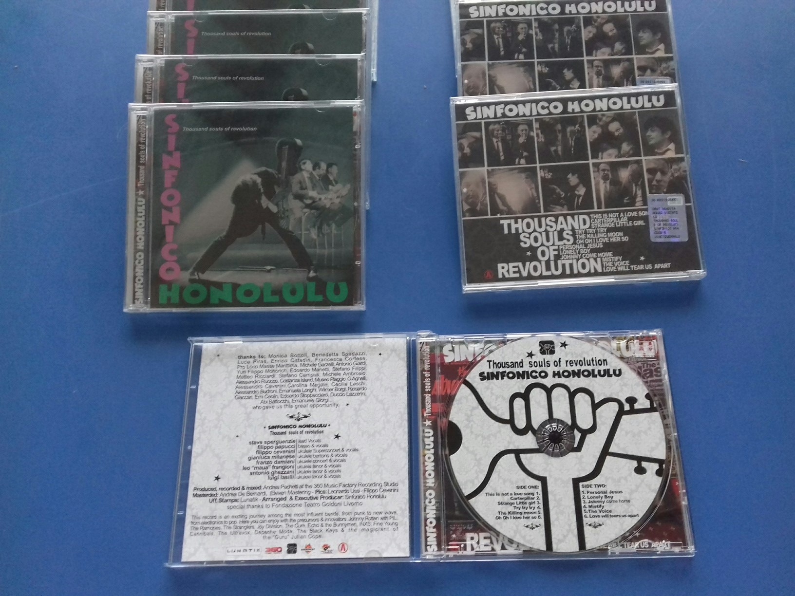 "Duplicazione CD Sinfonico Honolulu ""Thousand souls of revolution"""