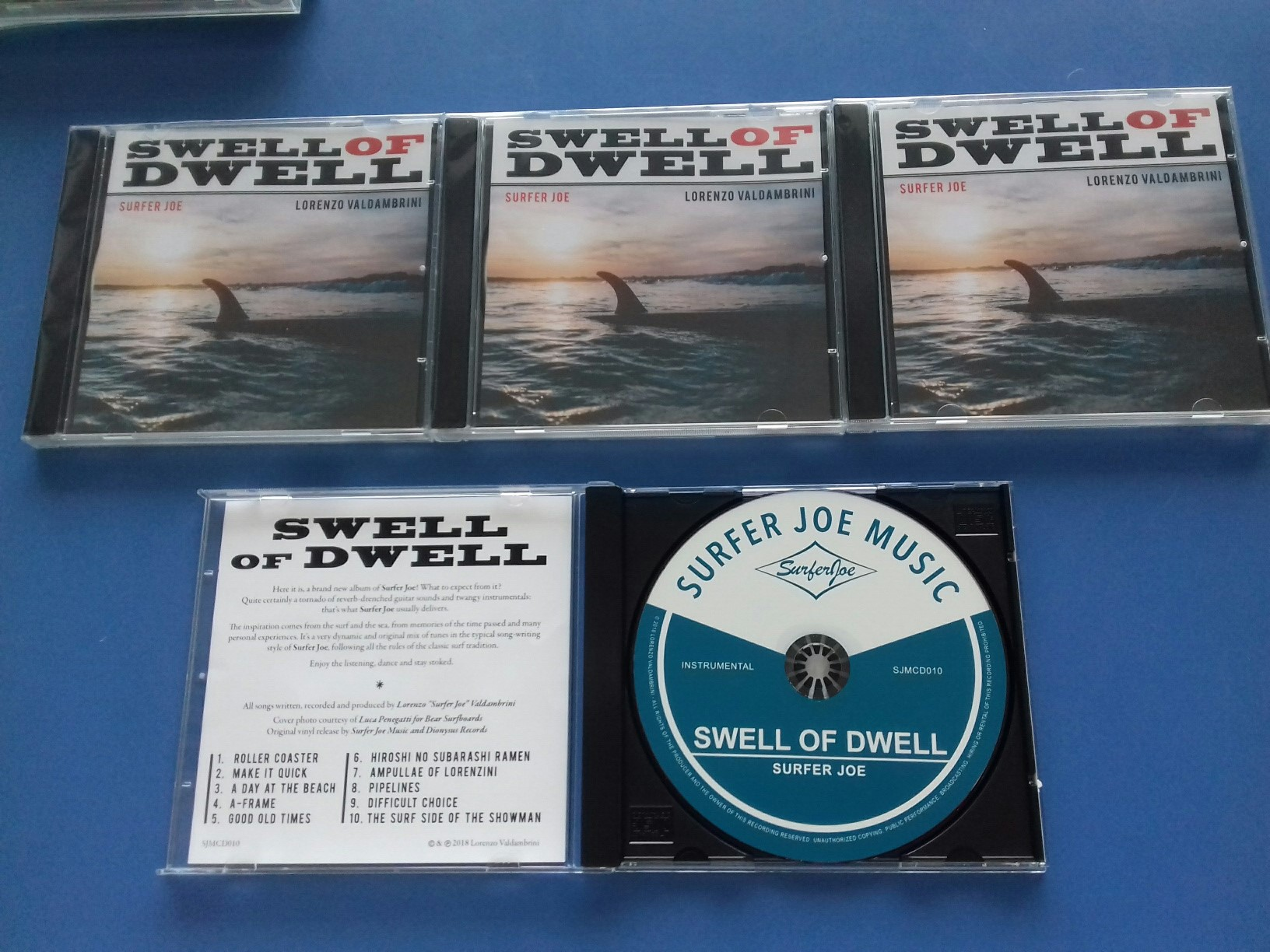 "Stampa CD ""Swell of dwell"" Surfer Joe"