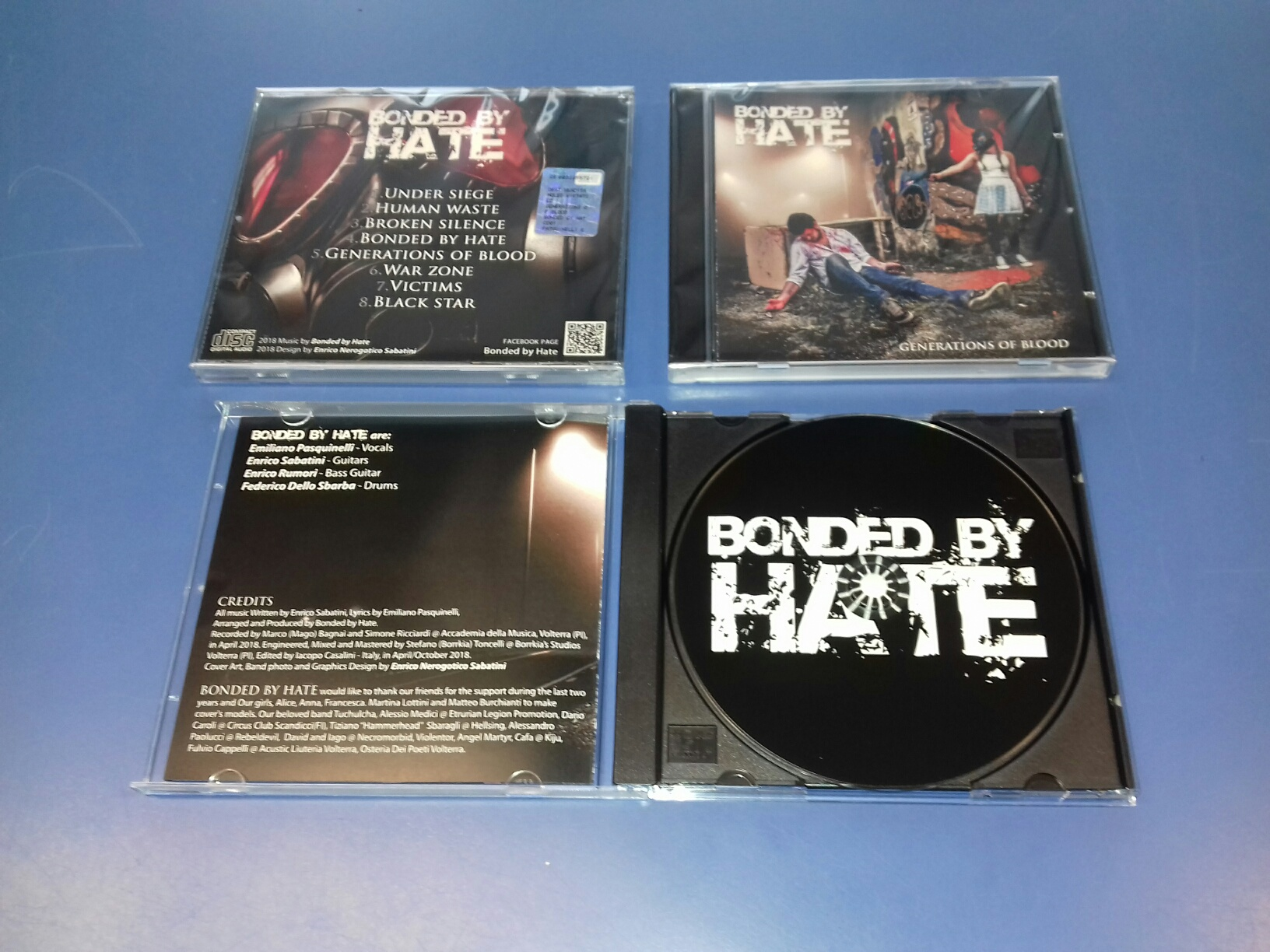 Duplicazione CD Bonded by Hate