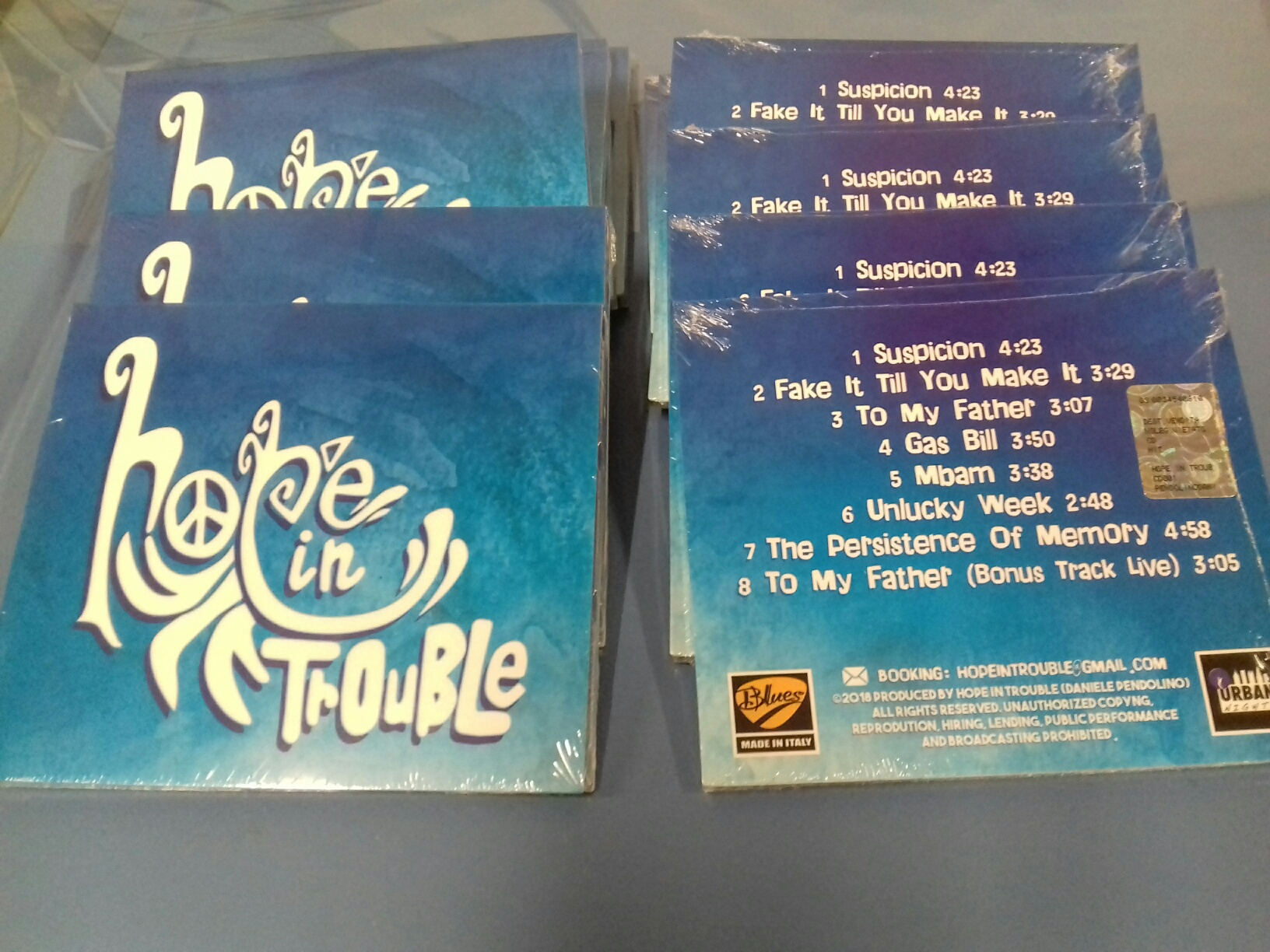 "Stampa CD in digipack 2 ante ""Hope in Trouble"""