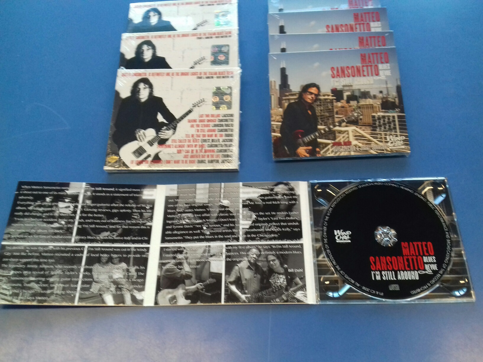 "Stampa CD in digipack 3 ante ""I'm still around"" Matteo Sansonetto."