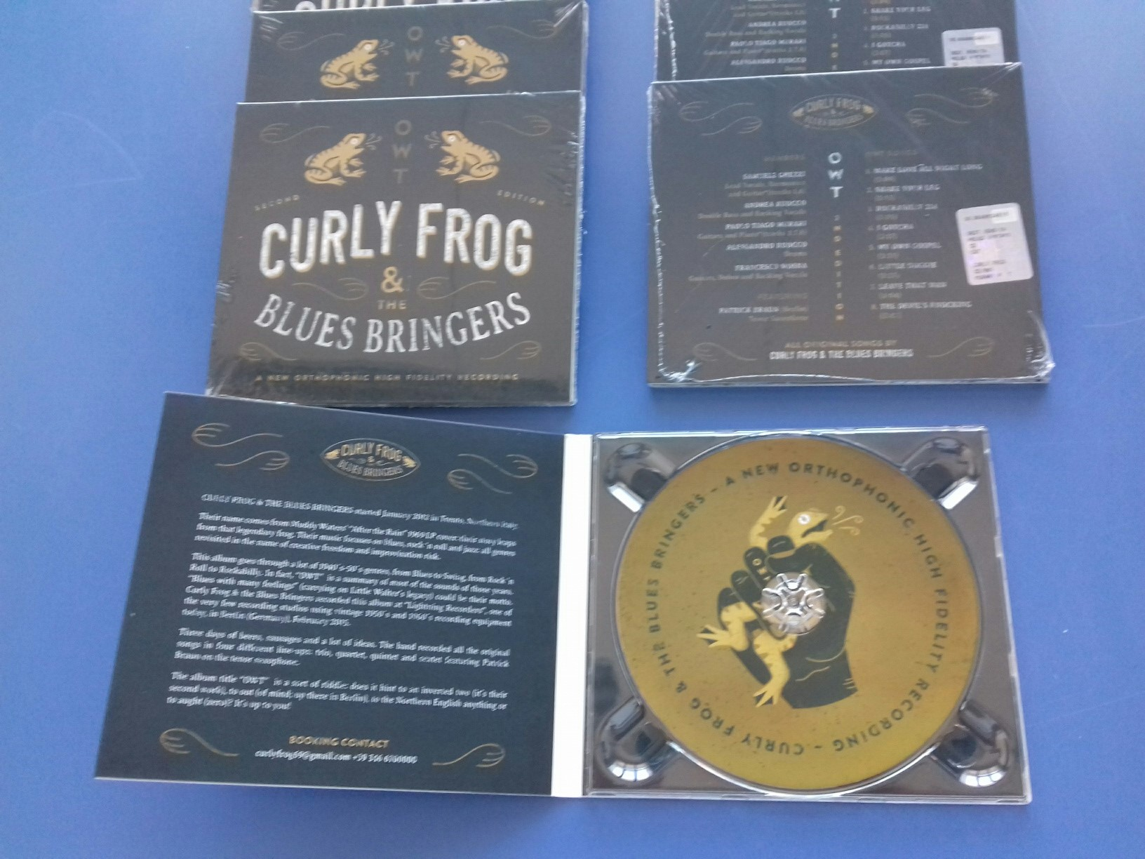 "Duplicazione CD ""OWT"" Curly Frog and the Blues Bringers"